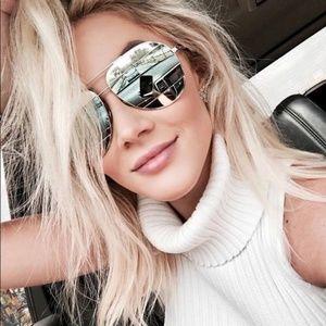Accessories - Silver Reflective Aviator Sunglasses